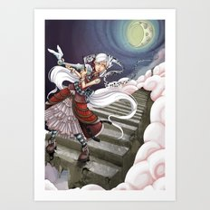 Those Crazy Stairs Art Print