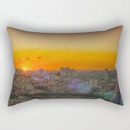 city panorama print Rectangular Pillow