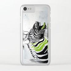 Zebra Streetstyle Clear iPhone Case