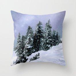 Hidden Peak Throw Pillow