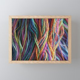 Rainbow Multi-color Handspun Yarn Framed Mini Art Print