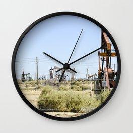 Oil Rig II Wall Clock