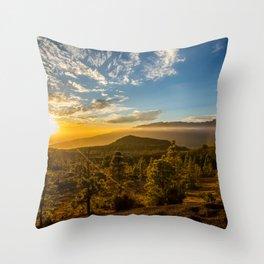 Brujas sunset Throw Pillow
