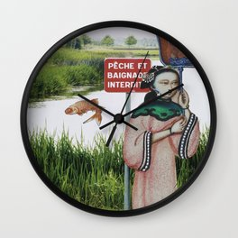 No Fishing Wall Clock