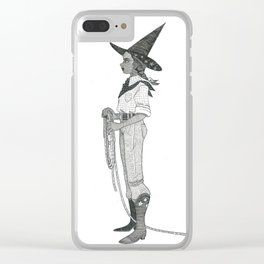 Cowgirl Witch Clear iPhone Case