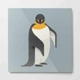 Whimsy Emperor Penguin Metal Print