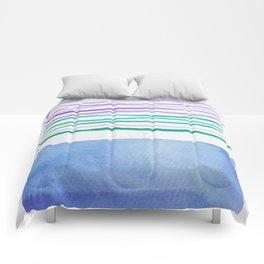21   |181026 Lines & Color Block | Watercolor Abstract | Modern Watercolor Art Comforters