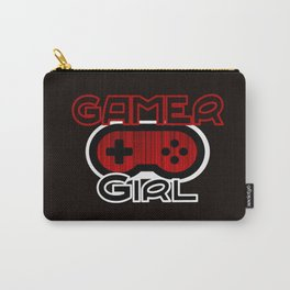 Red Gamer Girl Carry-All Pouch
