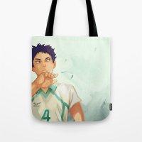 viria Tote Bags featuring Iwaizumi by viria