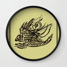 Indian Chief Fish Wall Clock
