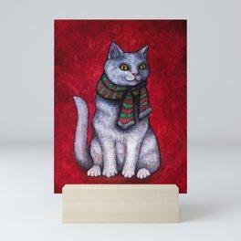 Holiday Yule Cat Jólakötturinn Mini Art Print