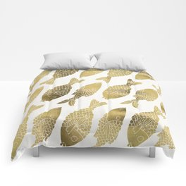Indonesian Fish Duo – Gold Palette Comforters