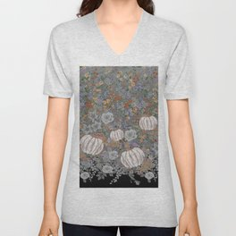 fall pumpkin Unisex V-Neck