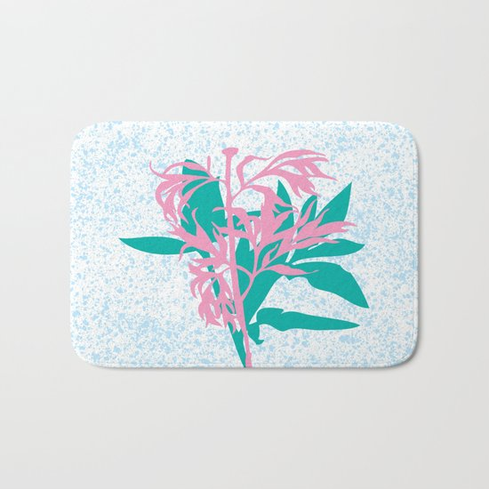 Leaves with branch Bath Mat