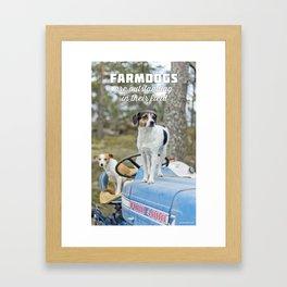 Outstanding Farmdogs Framed Art Print