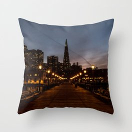 Transamerica Pyramid Pier Throw Pillow