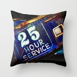 Greetings from the Rustbelt III:  25 Hour Service Throw Pillow
