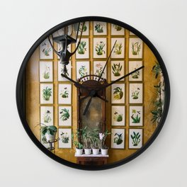 A Wall of Orchids, Merida, Mexico Wall Clock