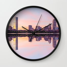 Boston in the morning Wall Clock