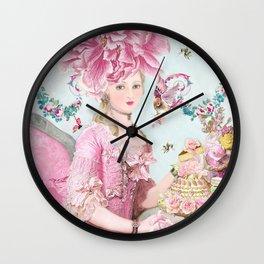 Marie Antoinette Wallflower Wall Clock