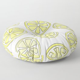 Lemon Slices Floor Pillow