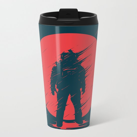 Red Sphere Metal Travel Mug