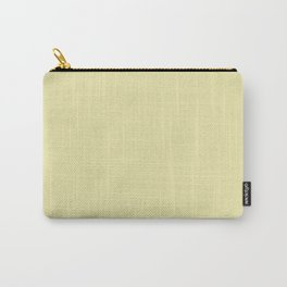 Pale Yellow Solid Colour Carry-All Pouch