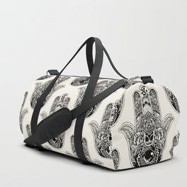 Hamsa Hand English Bulldog Duffle Bag