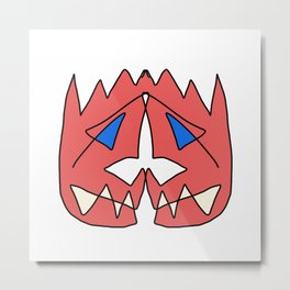 Two Faced Metal Print