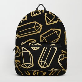 Black & Gold Crystal Pattern Backpack