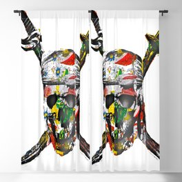 CanalFlowers Pirate Skull Blackout Curtain