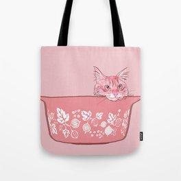 Cat in Bowl #1 Tote Bag