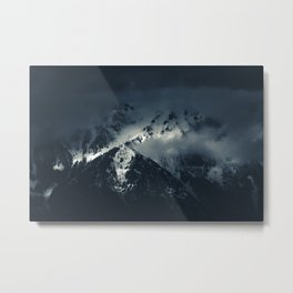 Darkness and clouds over the mountains Metal Print