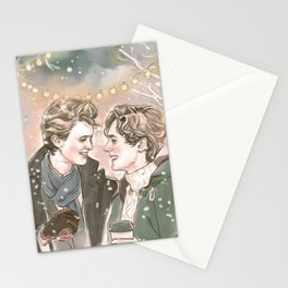 God Jul, Even and Isak Stationery Cards