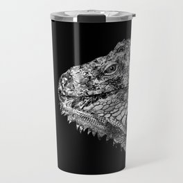Black And White Iguana Art - One Cool Dude 2 - Sharon Cummings Travel Mug