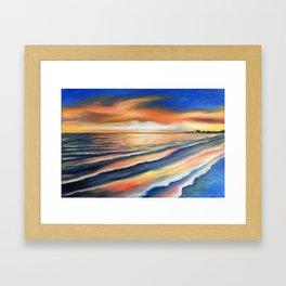 Sunset Fort Myers Beach Framed Art Print