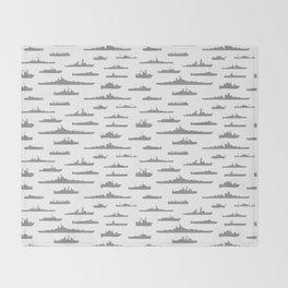 Battleship // Grey Throw Blanket