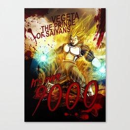 Vegeta Over 9000! Canvas Print