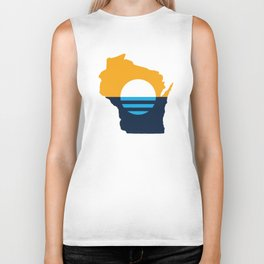 Wisconsin - People's Flag of Milwaukee Biker Tank