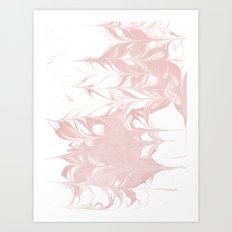 Marble pastel pink 1 Suminagashi watercolor pattern art pisces water wave ocean minimal design Art Print