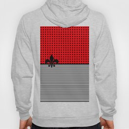 Cherry Red -  Dots and Lines Hoody