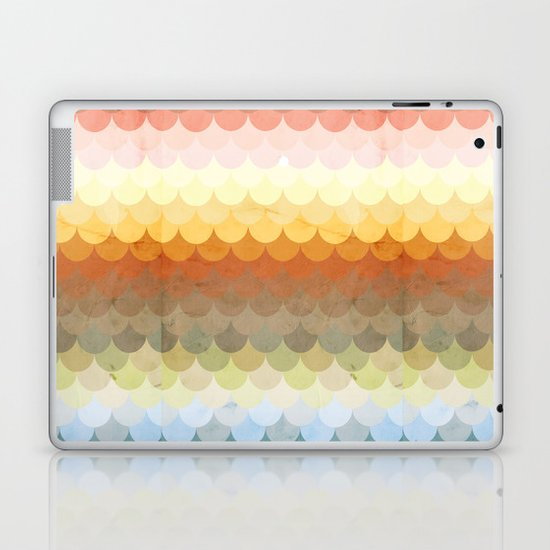 Half Circles Waves Color Laptop & iPad Skin