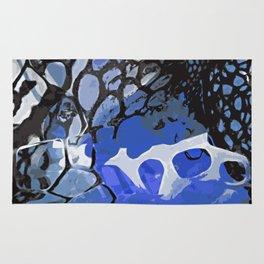 Organic blue Rug
