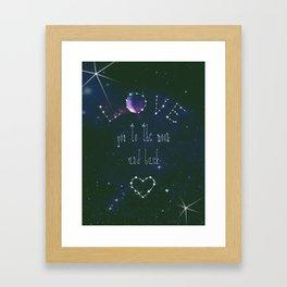 LOVE YOU GALAXY  Framed Art Print