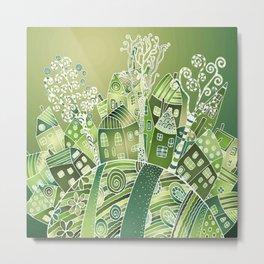 Green Living Metal Print