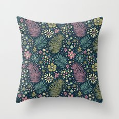 Mystical Forest (Teal and Lilac) Throw Pillow