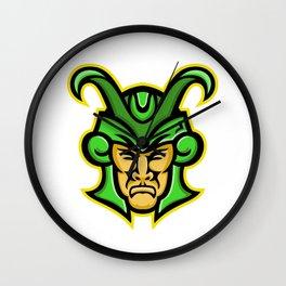 Loki Norse God Mascot Wall Clock
