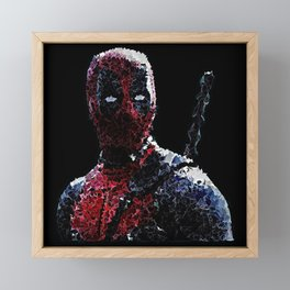 Dpool Radiant liquid Framed Mini Art Print