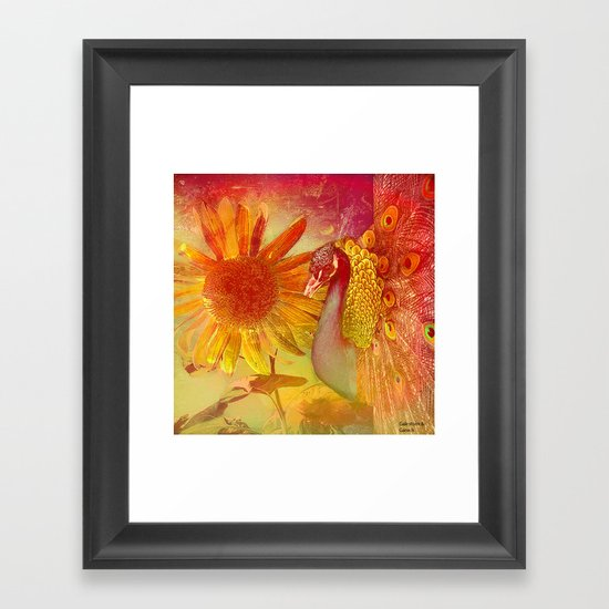 :: Sunflower and Ruebin the Royal Peacock :: by Gale storm and Joe Ganech Framed Art Print