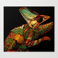 karma Canvas Prints featuring KARMA CHAMELEON by Catspaws